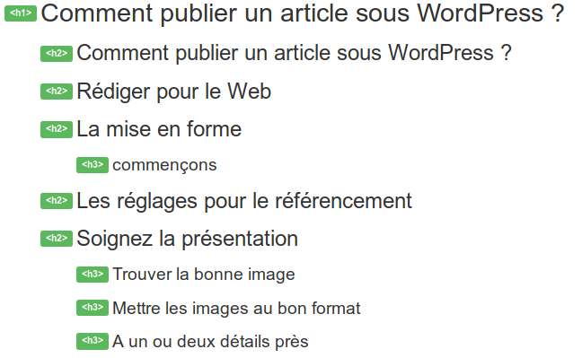 Web Developer plan du document